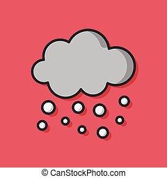 temps, vecteur, nuage, icône