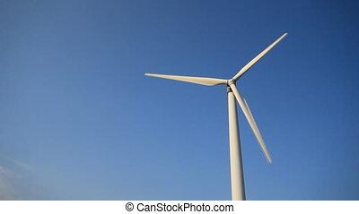 temps, vent, vrai, timelaps, turbine