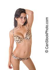 temptation - Portrait of the suntanned girl in bikini