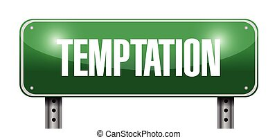 temptation street sign illustration