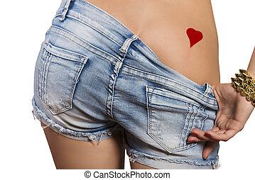 tempting bottom of girl - tempting bottom of voluptuous girl...