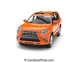 Tempting orange modern SUV - studio shot