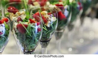 Tempting selection of fresh crisp salad vegetables