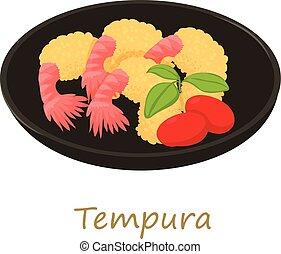 Tempura icon, cartoon style - Tempura icon. Cartoon...