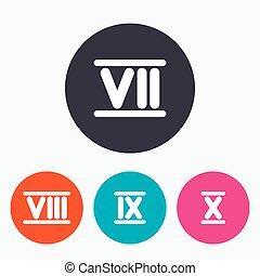 ten., 数, icons., ローマ 数字, 9, 7