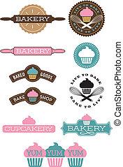 Ten bakery and cupcake designs