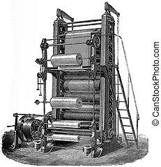 Ten calender rolls, vintage engraving. - Ten calender rolls...