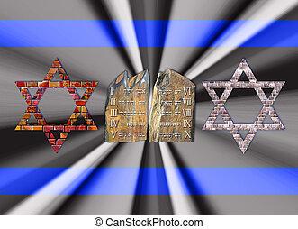 Ten Commandments and Stars of David - Ten Commandments and...