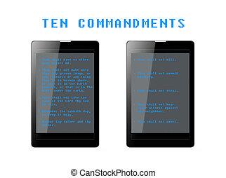 Ten Commandments Phablets