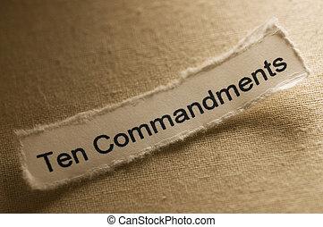 Ten Commandments - Picture of a word ten commandments