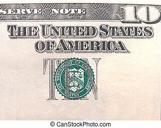 Ten Dollar Bill Seal