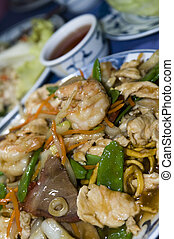 ten igredient sea food chinese