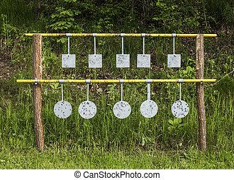 Ten metal targets