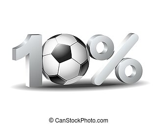 Ten percent discount icon