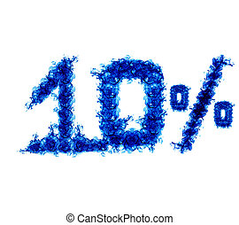 Ten percent of the blue flame