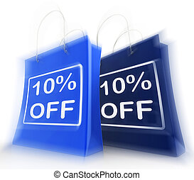 Ten Percent Off On Bags Shows 10 Bargains