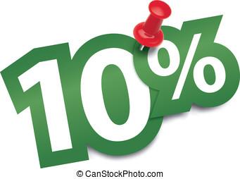 Ten percent sticker