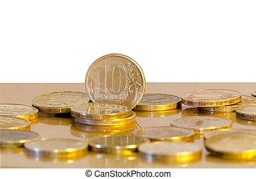 Ten-rouble coins