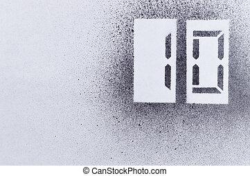 ten stencil number