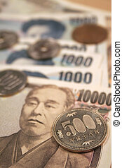 Four thousand and one ten thousend yen notes abstract
