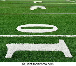 Ten Yard Line on American Football Field