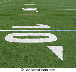 Ten Yard Line - Yard line markings on the Buena High School...