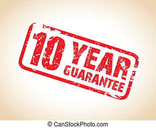 guarantee stamp - ten year guarantee stamp