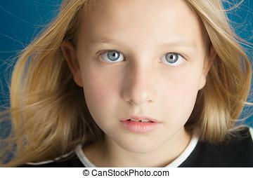 Ten Year Old Girl - Dreamy portrait of a beautiful ten year...