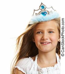 Ten Year Old Girl - Ten year old caucasian girl with long...