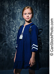 ten year old girl - Portrait of a cute ten-year-old girl...