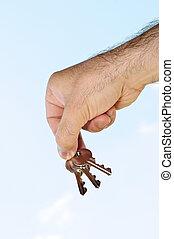 tenant main, clés