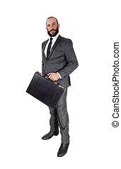 tenant serviette, position homme, business, sien