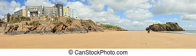 Tenby beach panorama