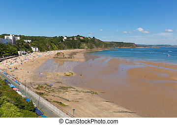 Tenby north beach South Wales uk