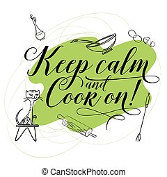 tendência, cooking., calligraphy.