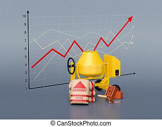 tendência, em, a, habitação, mercado