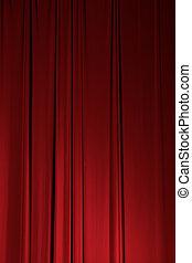 tenda, drappo, teatro, palcoscenico, elemento