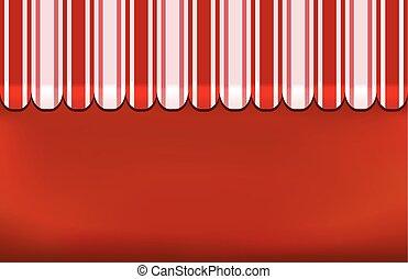tenda, negozio, fondo, rosso