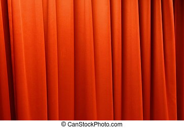 tenda, palcoscenico, fondo, struttura, rosso