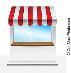 tenda, strisce, negozio