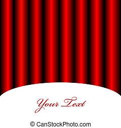 tenda, vettore, fondo, rosso