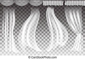 tenda, vettore, trasparente, fondo