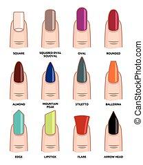 tendencias, moda, uñas