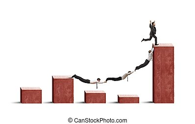tendenza, affari, crisi, contro, persone