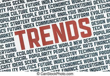 tendenze, illustrazione, concetto