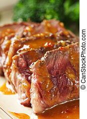 Tender beef - Slices of tender beef served with peanut sauce