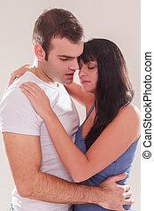 Tender loving couple