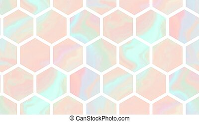 Tender pattern with gradient marble hexagon