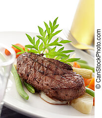 tenderloin - delicious piece of tenderloin, shallow depth of...
