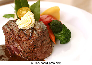 Tenderloin Steak - 8 oz tenderloin steak dinner with an...